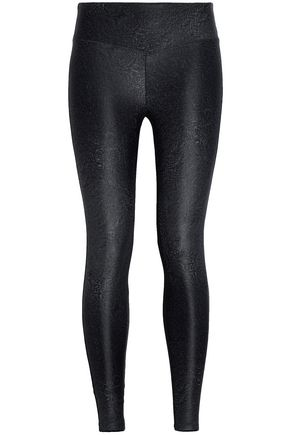 KORAL Sway paneled printed stretch leggings