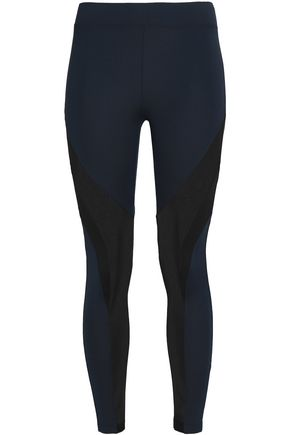 KORAL Mesh-paneled stretch leggings
