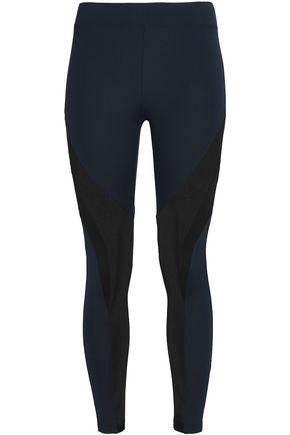 KORAL Mesh-paneled color-block stretch leggings