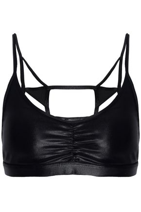 KORAL Element cutout coated stretch sports bra
