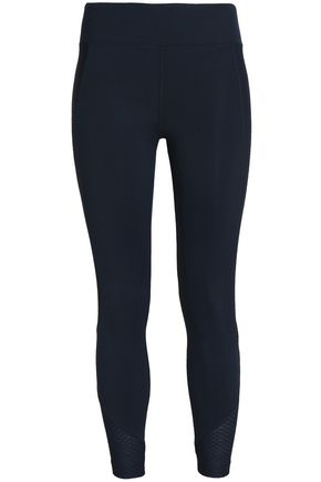 KORAL Cropped mesh-trimmed stretch leggings