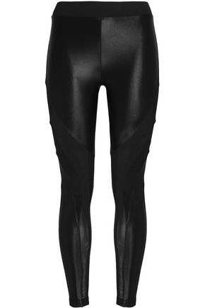 KORAL Mesh-paneled printed stretch leggings