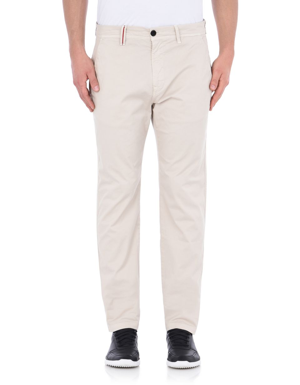 Scuderia Ferrari Online Store - Slim-fit cotton chino pants - Chinos