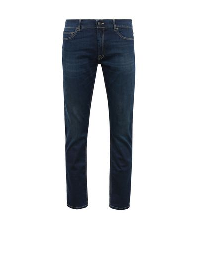 Scuderia Ferrari Online Store - Men's denim jeans with contrasting stitching - Jeans