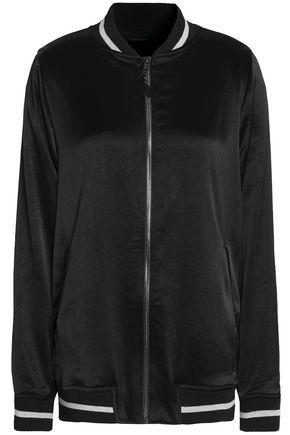KORAL Satin-crepe bomber jacket