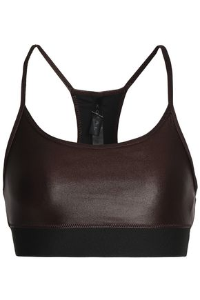 KORAL Metallic stretch sports bra