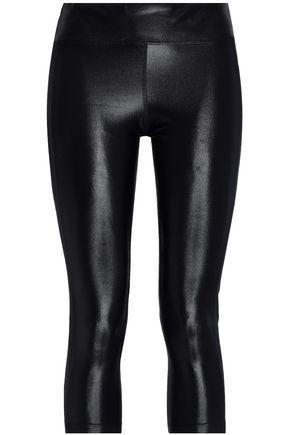 KORAL Dynamic Duo cropped paneled coated stretch leggings