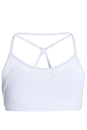 KORAL Mesh-paneled stretch-jersey sports bra
