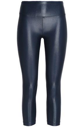 KORAL Cropped coated stretch leggings