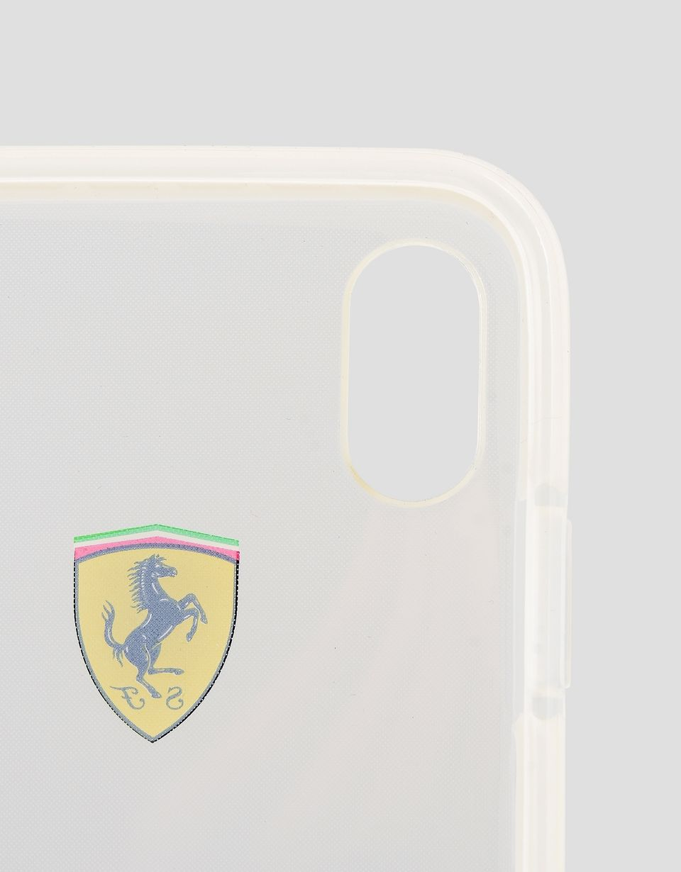 Scuderia Ferrari Online Store - Coque transparente pour iPhone X - Cover&Other Small Leather Good