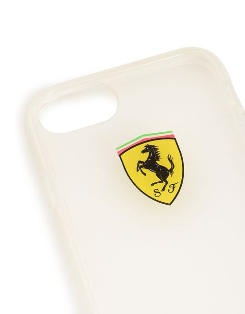 Scuderia Ferrari Online Store - Coque transparente pour iPhone 7 - Cover&Other Small Leather Good