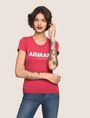 ARMANI EXCHANGE SEQUIN BLOCK LOGO TEE Logo T-shirt Woman a