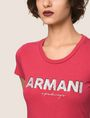 ARMANI EXCHANGE SEQUIN BLOCK LOGO TEE Logo T-shirt Woman b