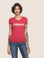 ARMANI EXCHANGE SEQUIN BLOCK LOGO TEE Logo T-shirt Woman f
