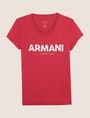 ARMANI EXCHANGE SEQUIN BLOCK LOGO TEE Logo T-shirt Woman r