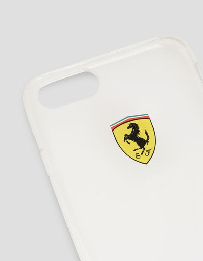 Scuderia Ferrari Online Store - Cover trasparente per iPhone 8 - Cover&Other Small Leather Good