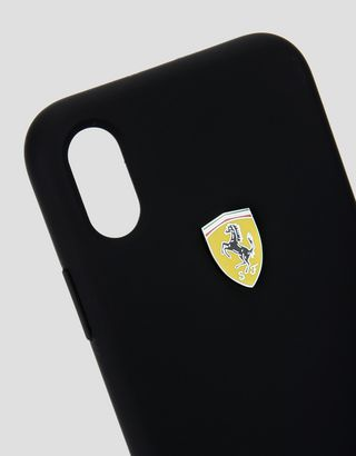 Scuderia Ferrari Online Store - Black silicone case for iPhone X - Cover&Other Small Leather Good