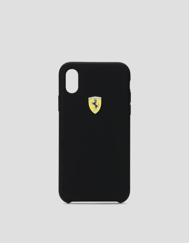 Scuderia Ferrari Online Store - Black silicone case for iPhone X -