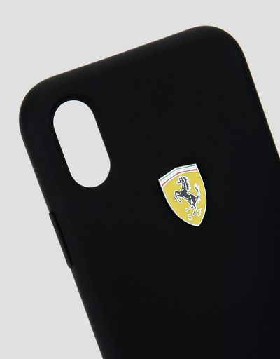 Scuderia Ferrari Online Store - Black silicone hard case for iPhone X - Cover&Other Small Leather Good