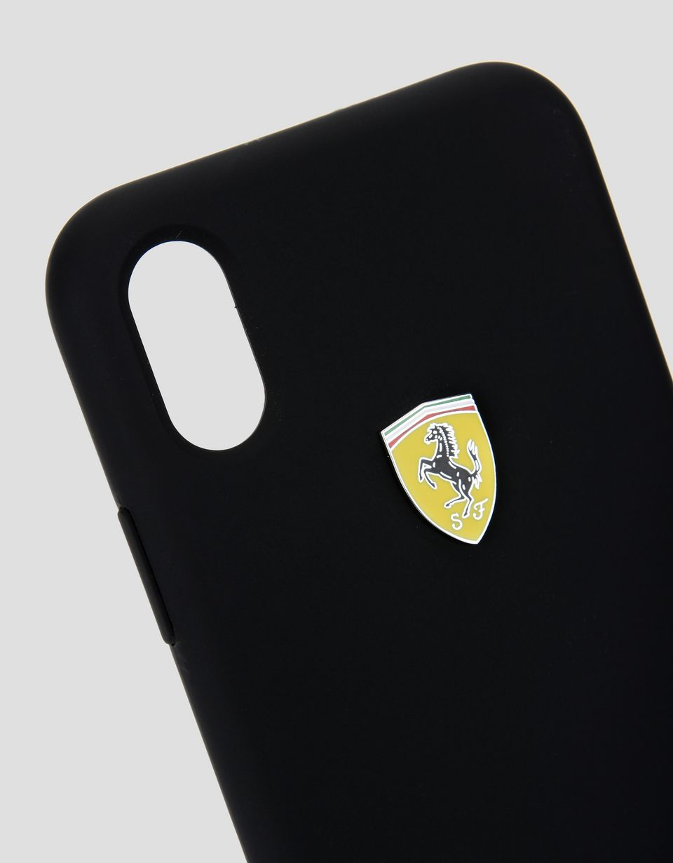 Scuderia Ferrari Online Store - Cover aus schwarzem Silikon für iPhone X - Cover&Other Small Leather Good
