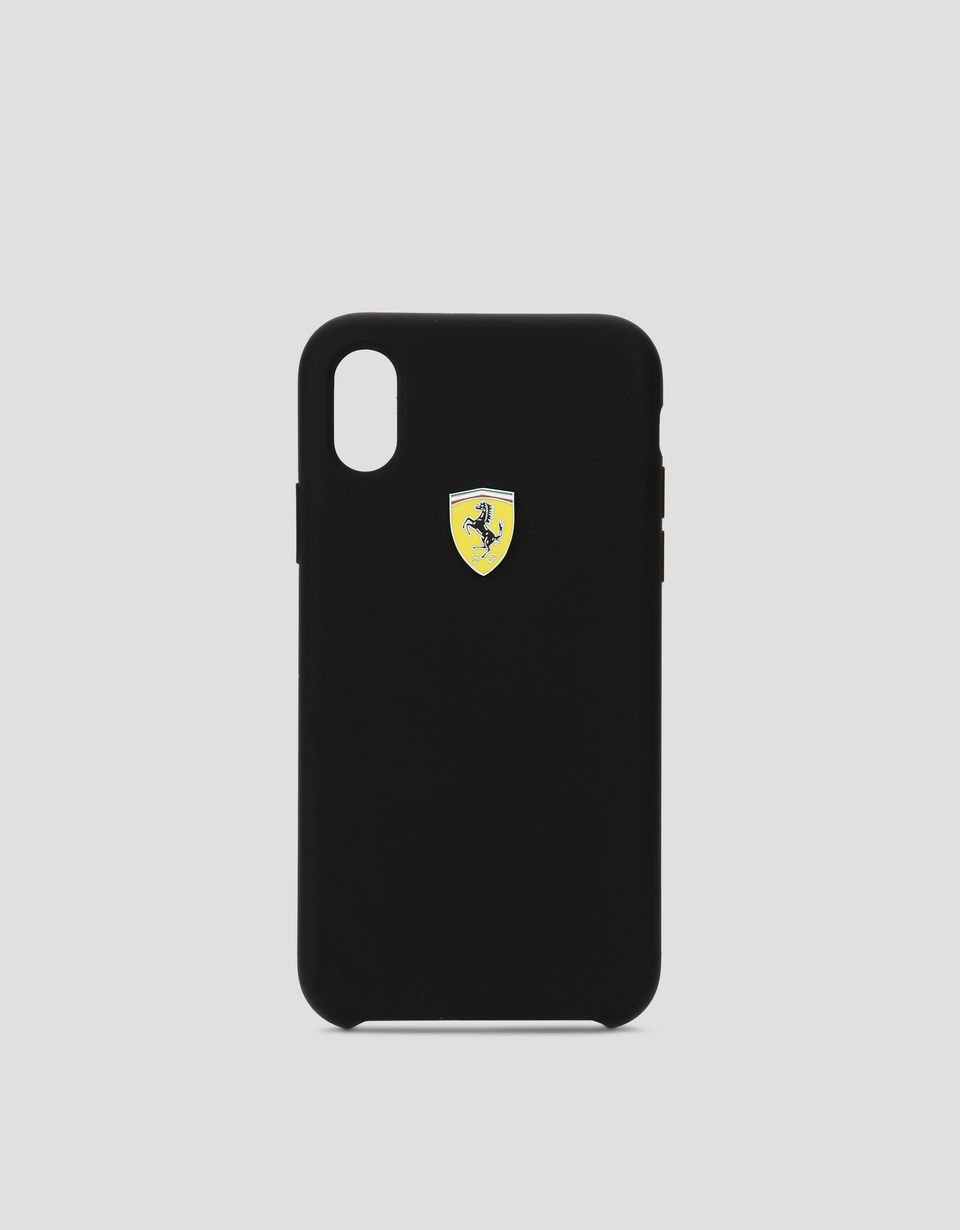 Scuderia Ferrari Online Store - Cover in silicone nera per iPhone X - Cover&Other Small Leather Good