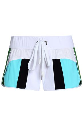 NO KA 'OI Honi mesh-paneled color-block scuba shorts