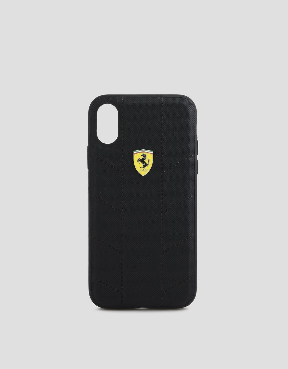 Scuderia Ferrari Online Store - Coque en tissu souple pour iPhone X - Cover&Other Small Leather Good