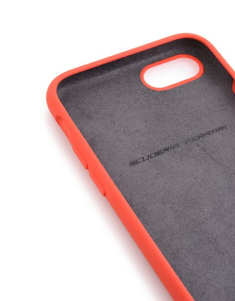 Scuderia Ferrari Online Store - Red silicone case for iPhone 8 - Cover&Other Small Leather Good