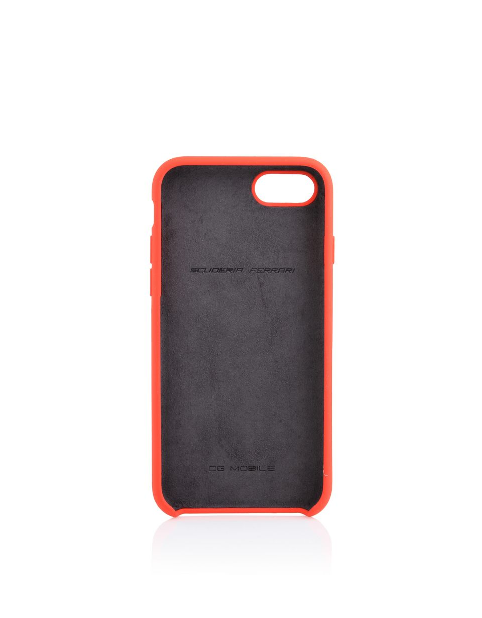 Scuderia Ferrari Online Store - Cover in silicone rossa per iPhone 8 - Cover&Other Small Leather Good