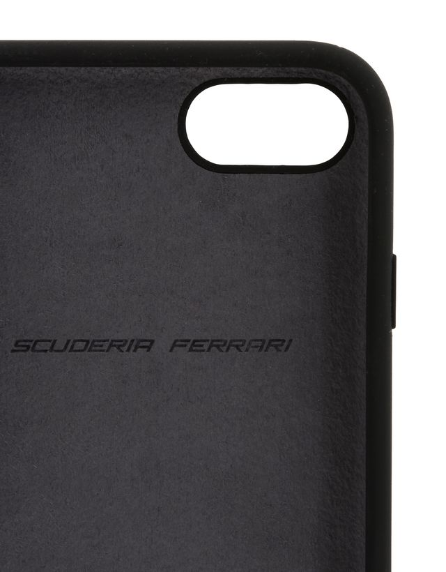 Scuderia Ferrari Online Store - Black silicone case for iPhone 8 -