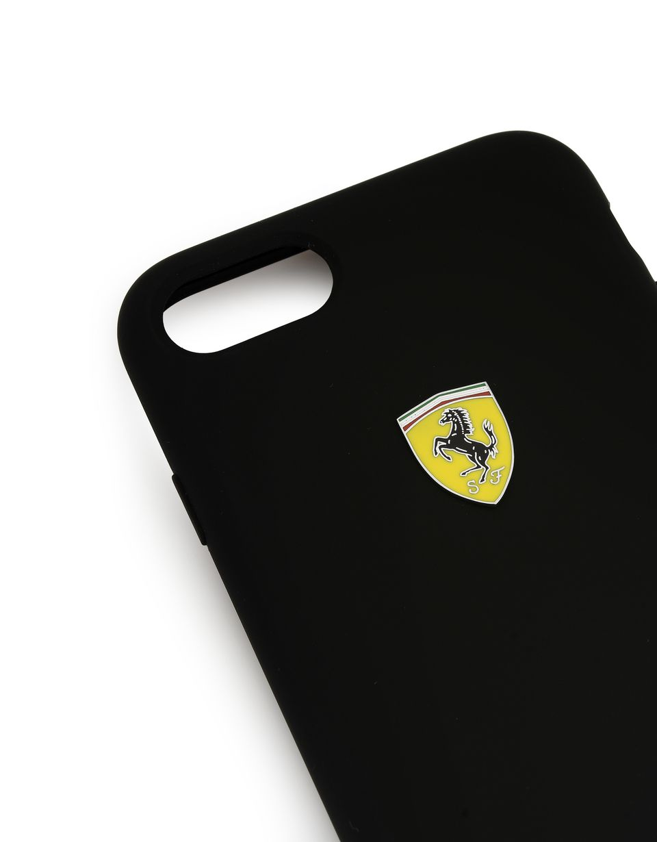 Scuderia Ferrari Online Store - Cover in silicone nera per iPhone 8 - Cover&Other Small Leather Good