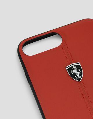 Scuderia Ferrari Online Store - Cover in pelle rossa per iPhone 7 Plus e iPhone 8 Plus - Cover&Other Small Leather Good