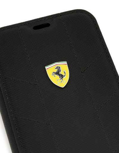 Scuderia Ferrari Online Store - iPhone X 仿皮翻盖手机壳 - Cover&Other Small Leather Good