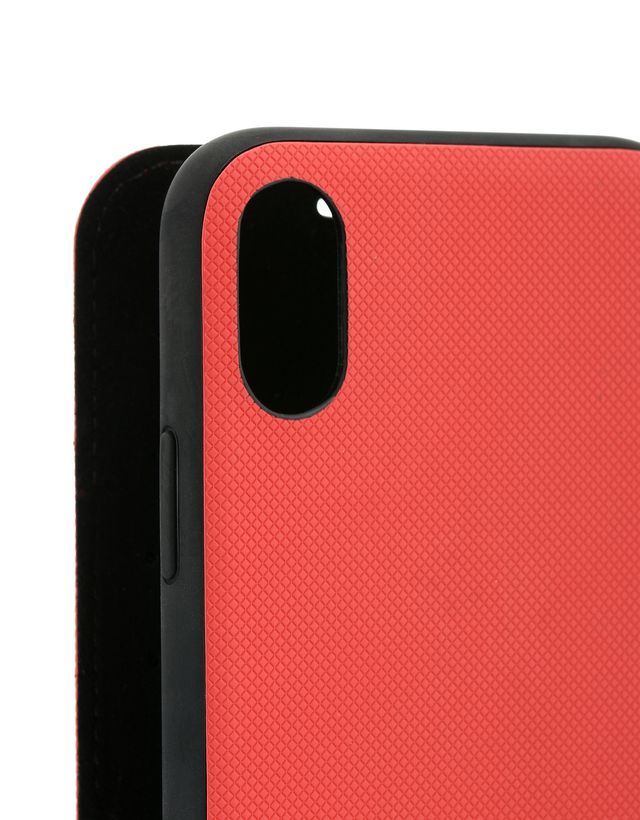 Scuderia Ferrari Online Store - Soft faux leather bi-fold case for iPhone X - Cover&Other Small Leather Good