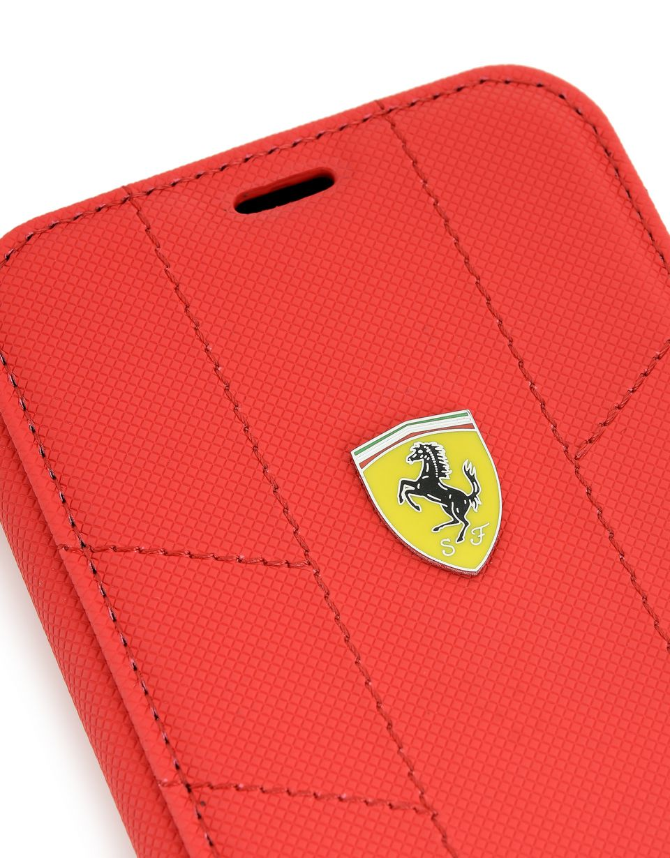 Scuderia Ferrari Online Store - Cover a libro in tessuto morbido per iPhone X - Cover&Other Small Leather Good