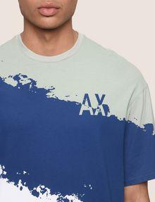 ARMANI EXCHANGE トリコロールカラーペイントTシャツ グラフィックTシャツ メンズ b