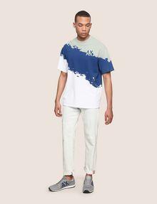 ARMANI EXCHANGE トリコロールカラーペイントTシャツ グラフィックTシャツ メンズ d