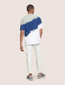 ARMANI EXCHANGE トリコロールカラーペイントTシャツ グラフィックTシャツ メンズ e