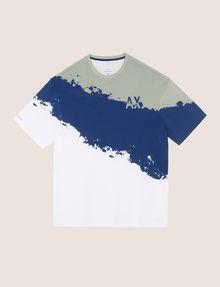 ARMANI EXCHANGE トリコロールカラーペイントTシャツ グラフィックTシャツ メンズ r