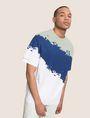 ARMANI EXCHANGE トリコロールカラーペイントTシャツ グラフィックTシャツ メンズ a