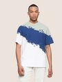 ARMANI EXCHANGE トリコロールカラーペイントTシャツ グラフィックTシャツ メンズ f