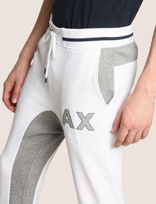 ARMANI EXCHANGE COLORBLOCK INSET LOGO JOGGER Fleece Pant Man b