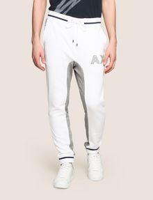 ARMANI EXCHANGE COLORBLOCK INSET LOGO JOGGER Fleece Pant Man f