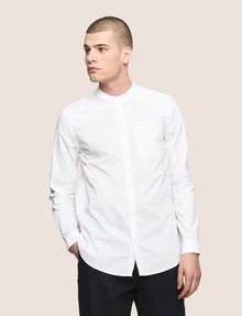 ARMANI EXCHANGE RELAXED-FIT BAND COLLAR SHIRT Long-Sleeved Shirt Man f