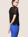 ARMANI EXCHANGE PRINTED MESH LAYERED TOP S/L Knit Top Woman a