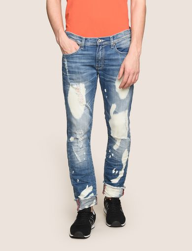SLIM-FIT ULTRA-BLEACHED INDIGO JEAN