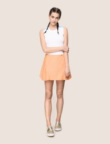 ARMANI EXCHANGE PANELED LINEN-BLEND SKORT Shorts Woman d