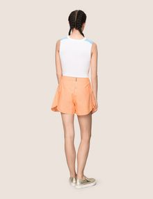 ARMANI EXCHANGE PANELED LINEN-BLEND SKORT Shorts Woman e