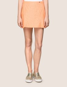 ARMANI EXCHANGE PANELED LINEN-BLEND SKORT Shorts Woman f