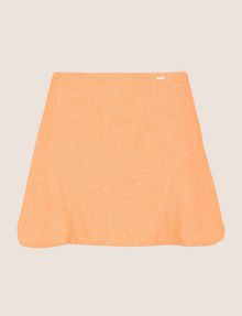 ARMANI EXCHANGE PANELED LINEN-BLEND SKORT Shorts Woman r